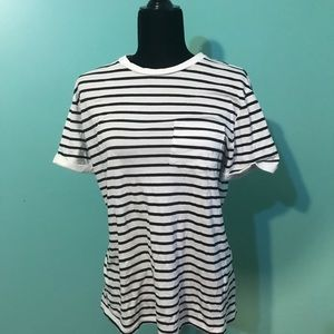 H&M Junior's Small Black/White Striped Shirt